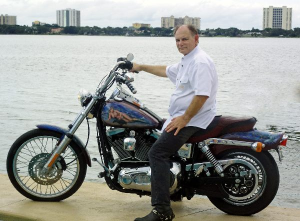 Lou On His Harley